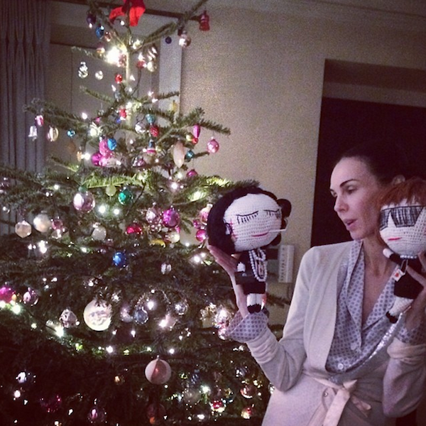 L'wren Scott Spends Christmas With Coco and Anna