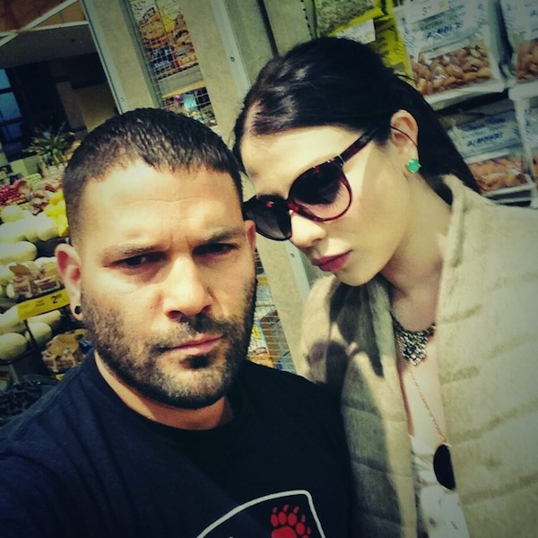 Guillermo Diaz and Michelle Trachtenberg Hit the Produce Aisle