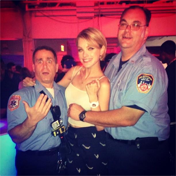 Jess Stam Parties with Paramedics