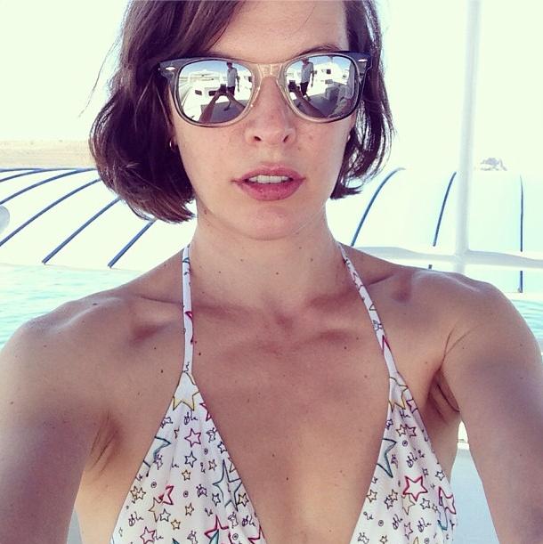 Milla Jovovich's Summer Selfie