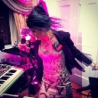 Grimes Performs in Donatella Versace's Living Room