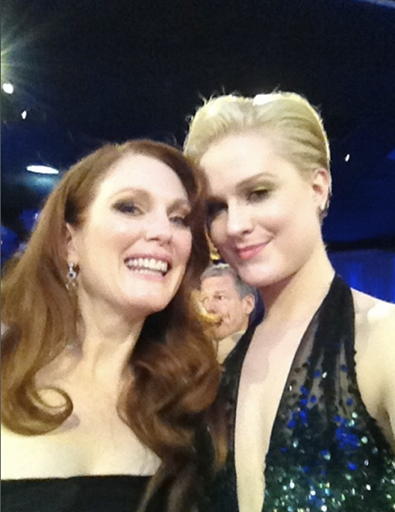 Julianne Moore and Evan Rachel Wood at the Golden Globes