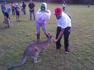 Nicki Minaj Kicks It With a Kangaroo