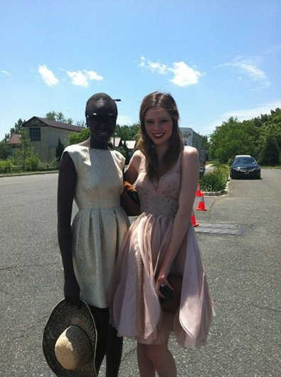 Alek Wek and Coco Rocha at UK Polo Classic