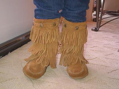 Kourtney Kardashian and the Baby Boots