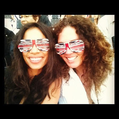 Rosario Dawson at the Olympics Opening Ceremony