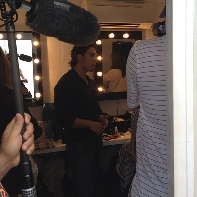 Apolo Ohno in Hair and Makeup