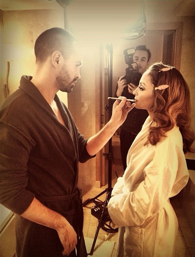 Nicole Richie Gets Ready for the Golden Globes