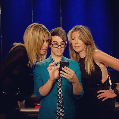Nina Garcia Instagrams with Christian Siriano and Heidi Klum