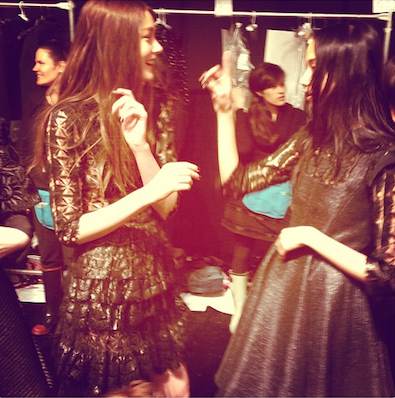 Backstage at Jill Stuart
