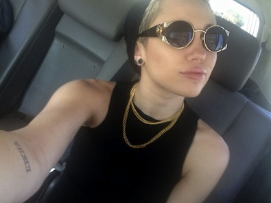 Miley Cyrus in Black and Gold