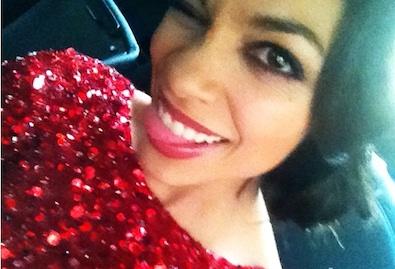 Rosario Dawson's Pre-Premiere Selfie