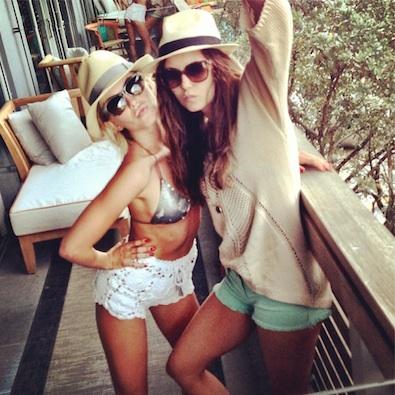 Julianne Hough and Nina Dobrev's Friday Fun Day