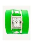 La Mer Neon Green Wrap Watch