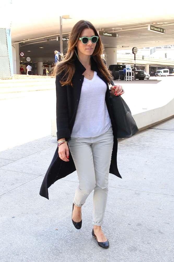 Jessica Biel at LAX