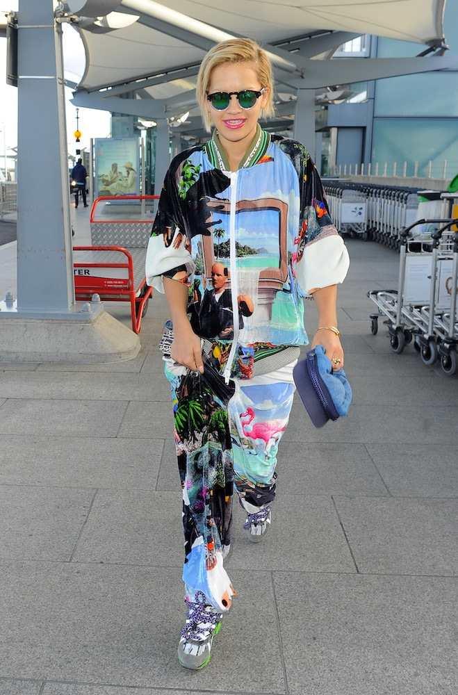 Rita Ora at Heathrow