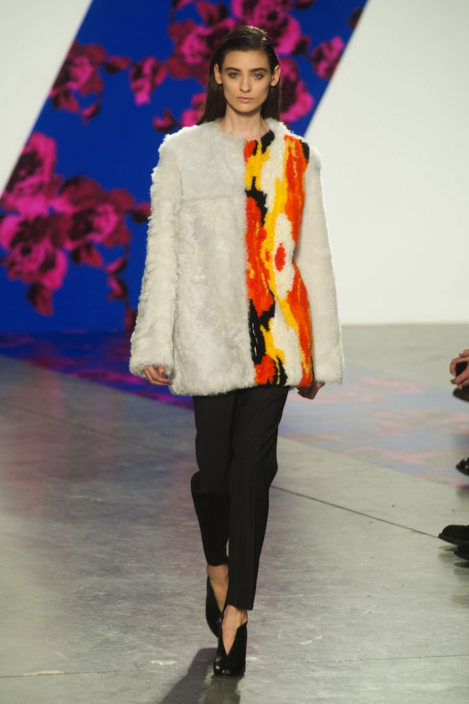 Colored Fur at Thakoon