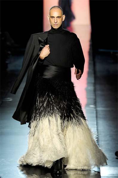 Tanel Bedrossiantz as the bridesmaid, Jean Paul Gaultier, 2011