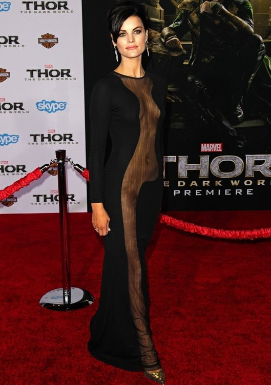 Jaimie Alexander at the Los Angeles Premiere of Thor: The Dark World