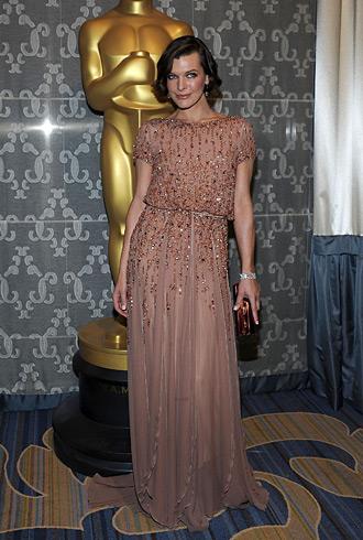 Milla Jovovich in Elie Saab - Sci-Tech awards