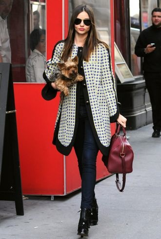 Miranda Kerr walks her dog New York City March 2012 cropped