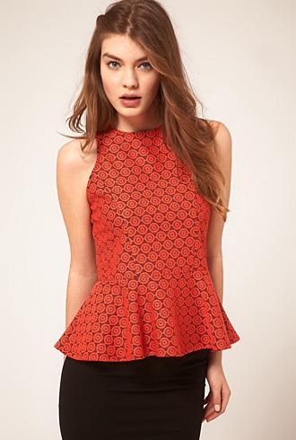 Asos peplum orange lace - forum buys
