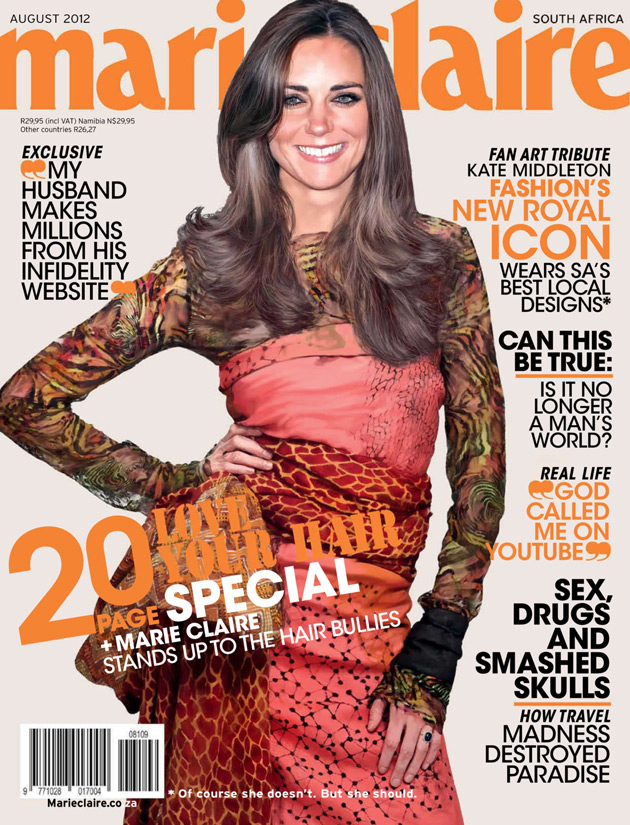Marie Claire South Africa August 2012 - Kate Middleton