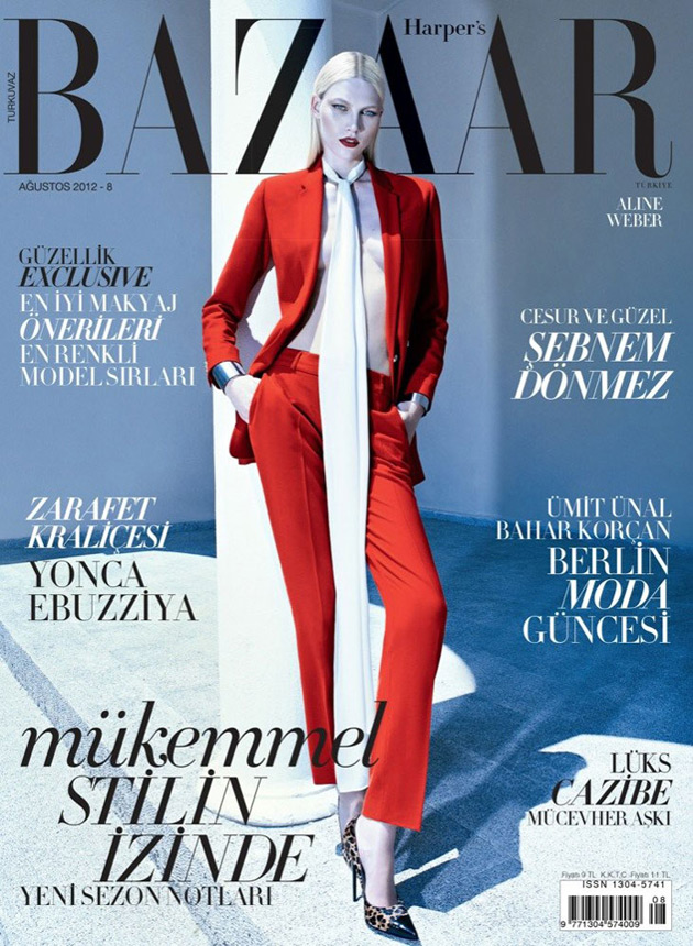 Harpers Bazaar Turkey August 2012 - Aline Weber by Koray Birand