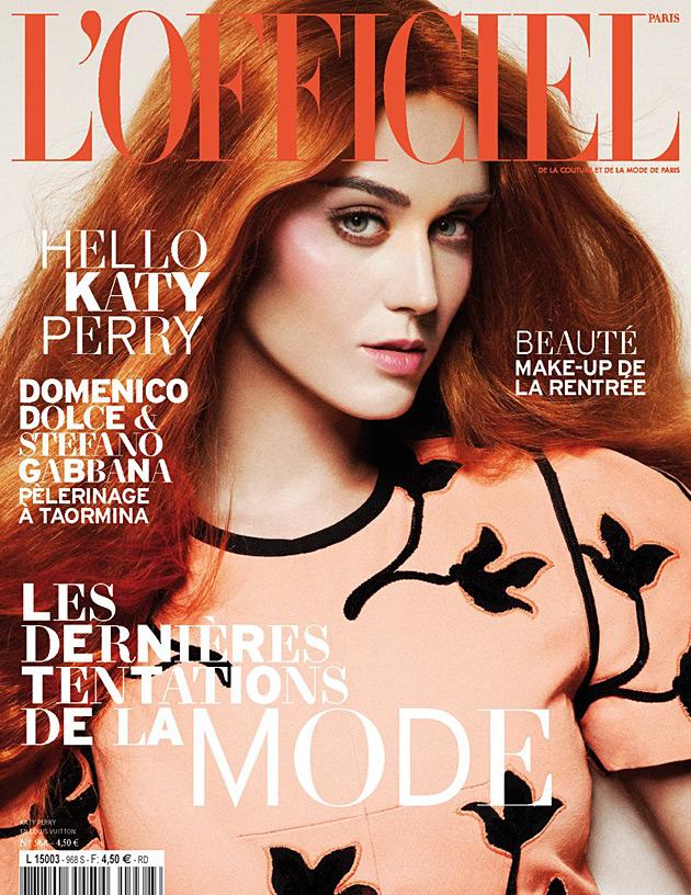 L'Officiel Paris September 2012 - Katy Perry