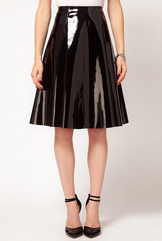 forum buys - Asos skater wet look skirt