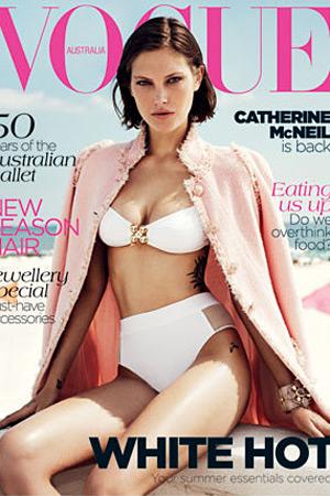 Vogue Australia November 2013 - Catherine McNeil photographed by Benny Horne