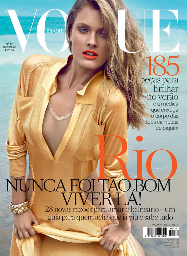 Vogue Brazil November 2012 - Constance Jablonski photographed by Henrique Gendre