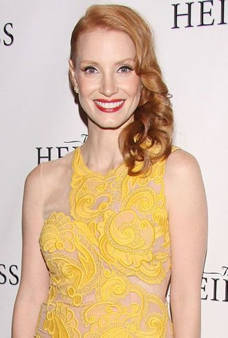Jessica Chastain Broadway opening night after party for The Heiress New York City cropped