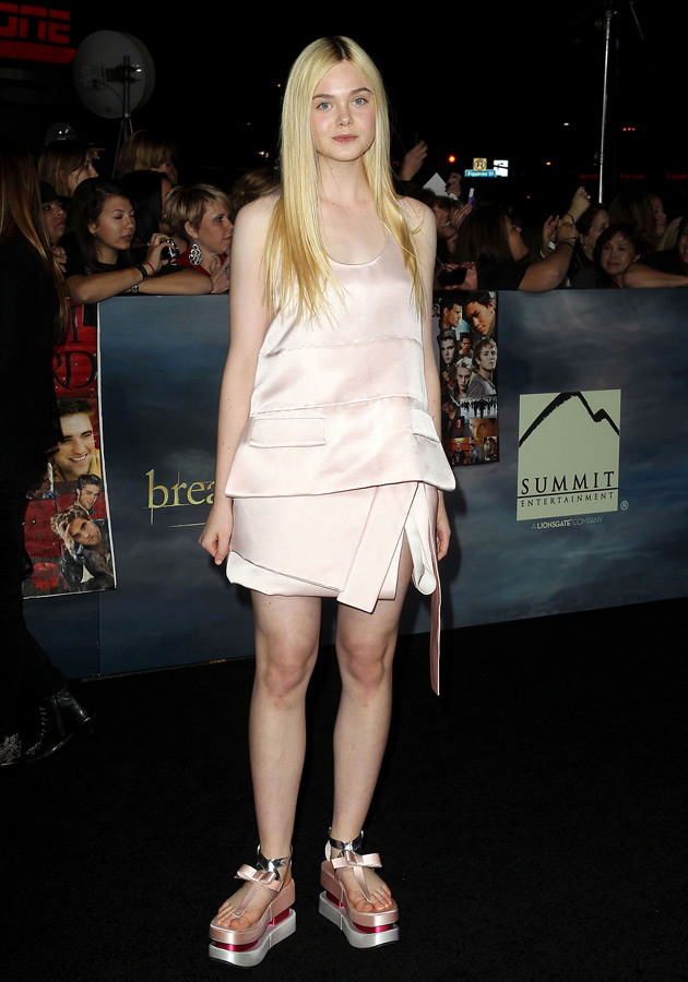 Elle Fanning in Prada at the Twilight premiere