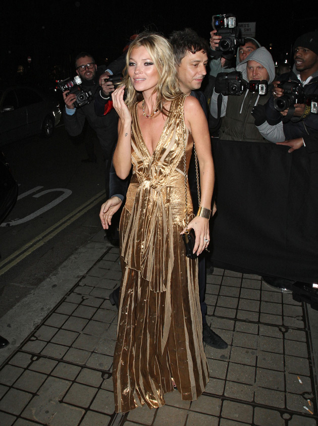 Kate Moss at book launch after party