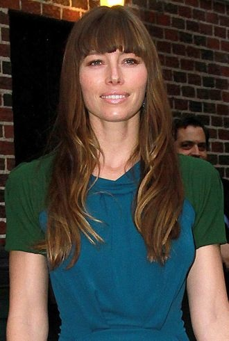 Jessica Biel The Late Show with David Letterman New York City cropped