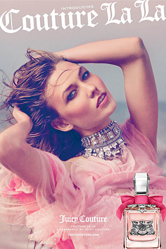 Juicy Couture - Couture La La fragrance ad - Karlie Kloss photographed by Inez & Vinoodh