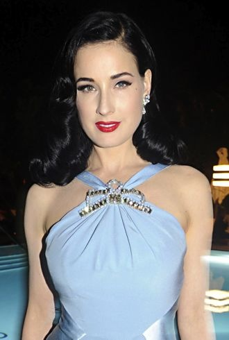 Dita Von Teese at the Art Basel during the Pret A Porter party Miami cropped