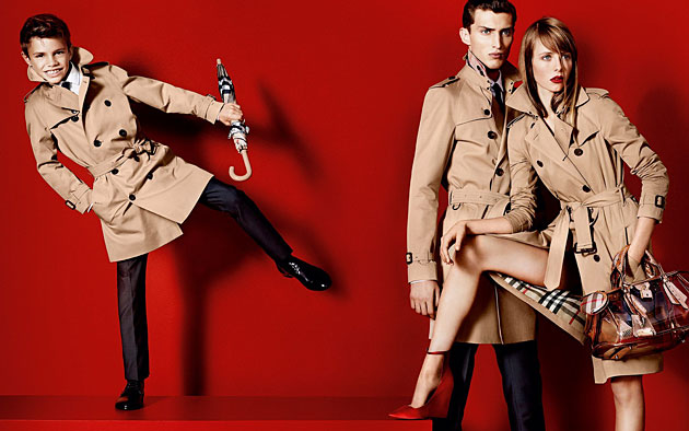 Burberry Prorsum Spring 2013 ad featuring Romeo Beckham - photography by Mario Testino