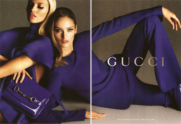 Gucci Spring 2013 ad campaign - Anja Rubik and Karmen Pedaru photographed by Mert & Marcus