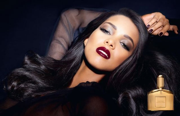 Tom Ford Sahara Noir fragrance ad - Lais Ribeiro