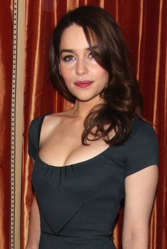 Emilia Clarke Breakfast At Tiffanys press conference New York City cropped