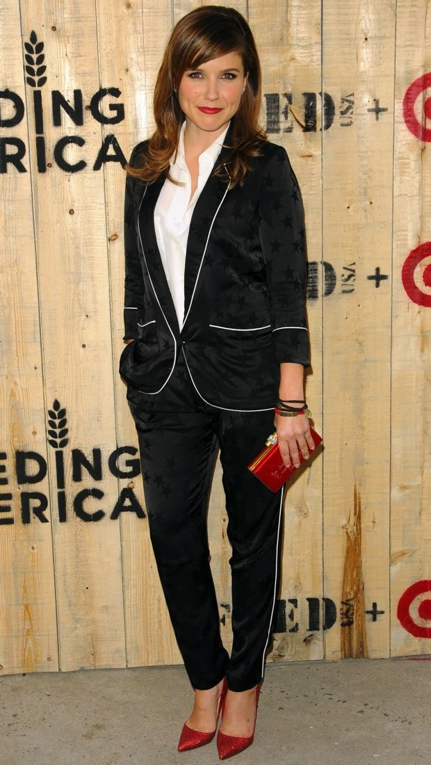 sophia bush suits up for a good cause in smythe