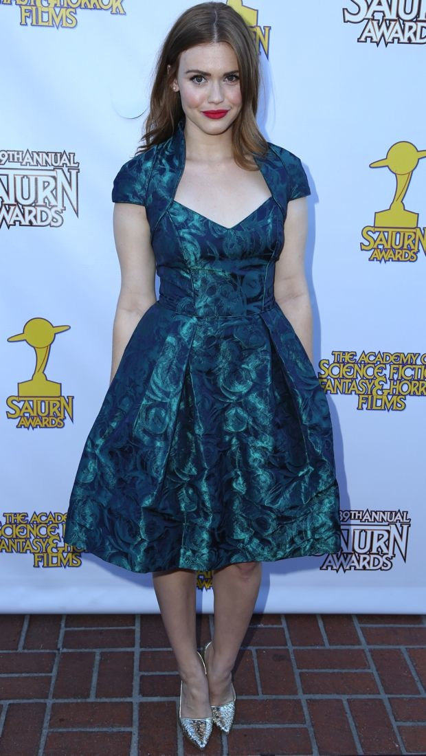 Holland Roden S Green Theia Fall 2013 Patterned Party
