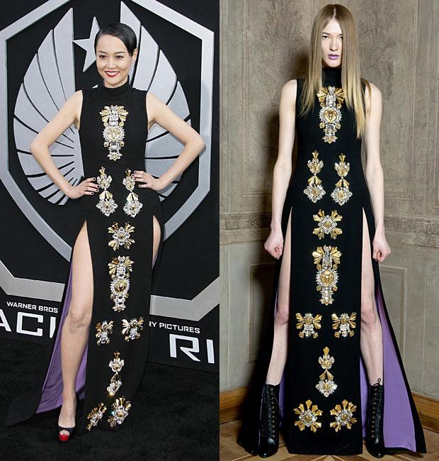 Images: Adriana M. Barraza/WENN.com and style.com