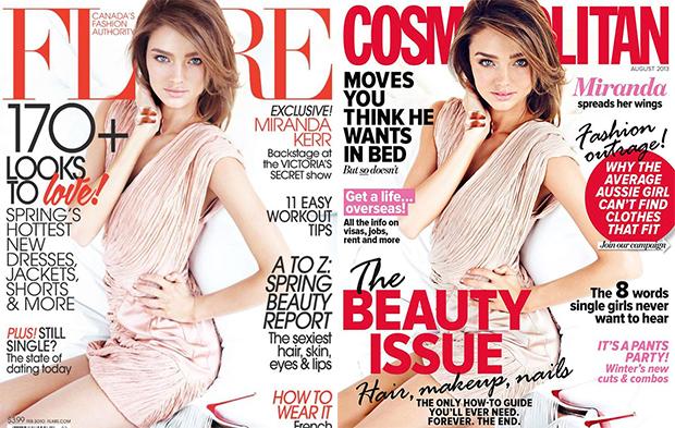 Image: FashionModelDirectory (left) / Cosmopolitan Australia FB (right)