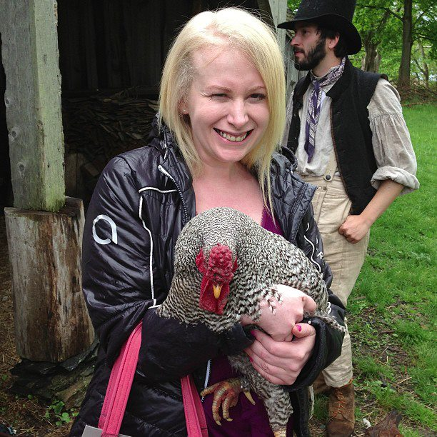 Getting up close and personal with a rooster - and history - at Coggeshall Farm in Bristol.