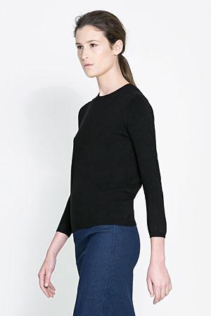 Zara-sweater-black