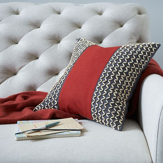West Elm Thai Bamboo Beads Pillow Cover