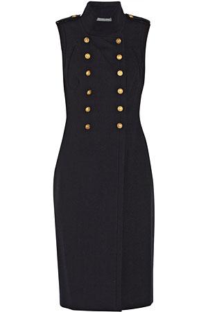 Alexander-McQueen-black-button-dress